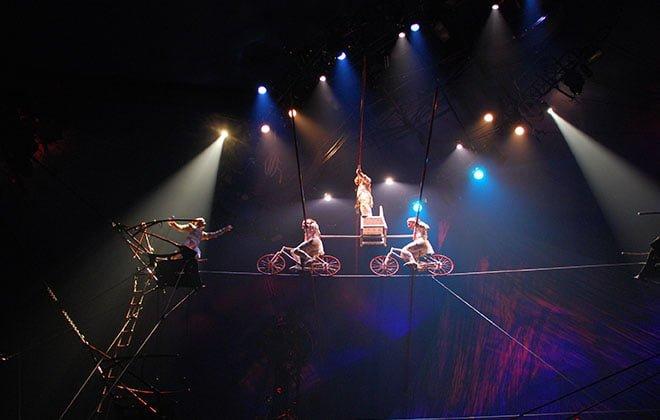 cirque du soleil alambres equilibrismo