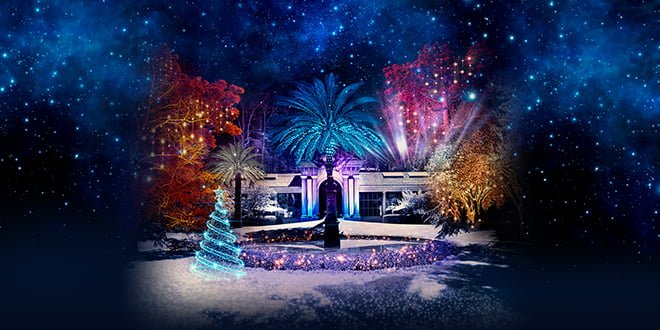 luces real jardín botánico