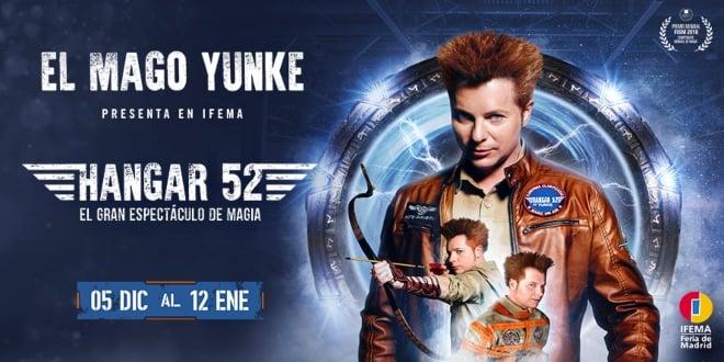 Espectáculo magia Hangar 52