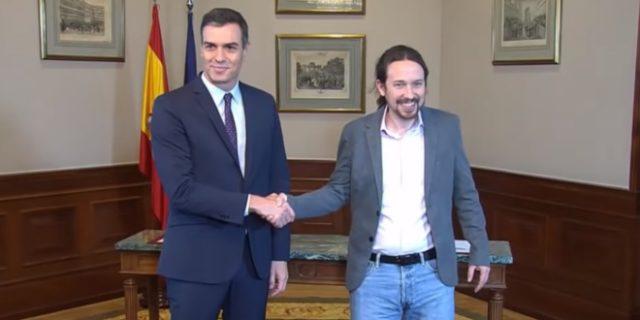 Sánchez e Iglesias nuevo gobierno