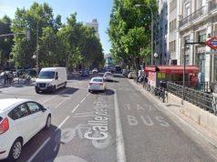 calle Princesa carril menos obras plaza españa