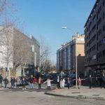 Protesta de los vecinos de Carabanchel Alto contra la construcción de una gasolinera