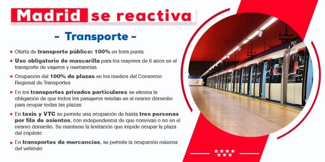 nueva normalidad Madrid transporte