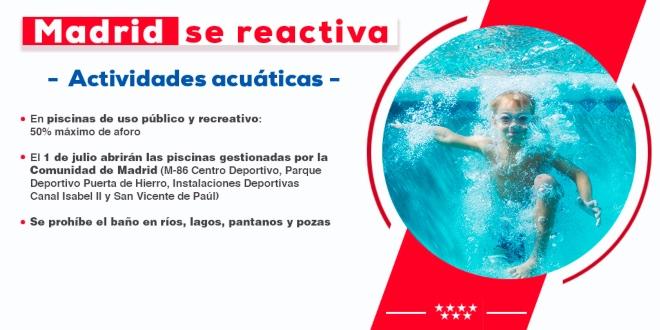 actividades acuáticas junio julio 2020