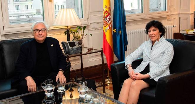 Isabel Celaa y Manuel Castells