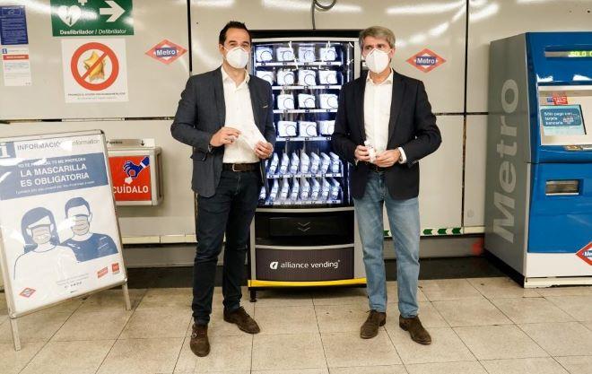 maquinas vending mascarillas metro madrid