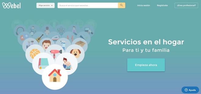 servicios a domicilio app Webel