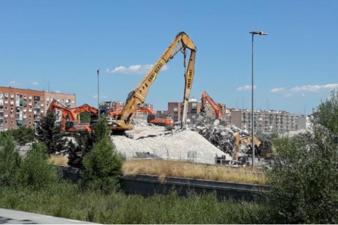 Demolición estadio Vicente Calderón