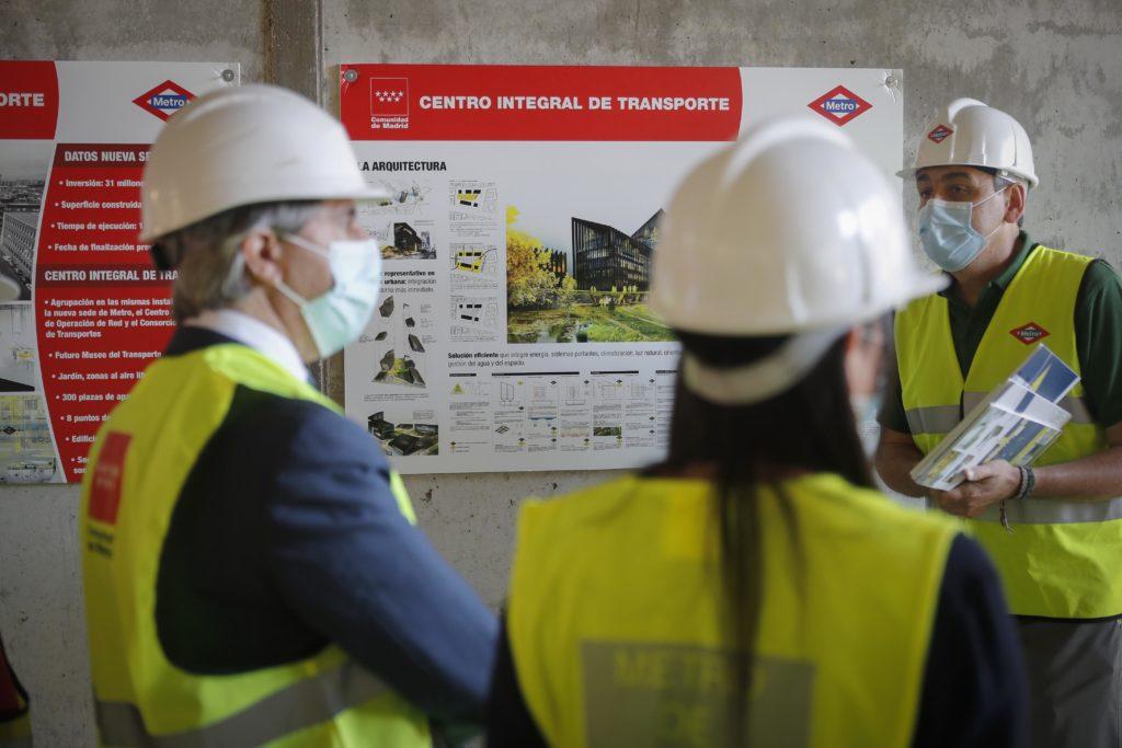 Obras de las nuevas estaciones de Metro en Valdebebas