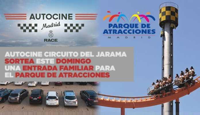 autocine madrid race jarama sorteo parque atracciones