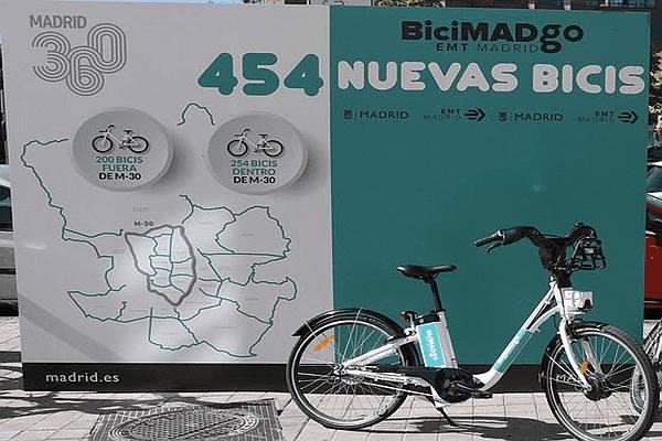 Servicio de bicicletas eléctricas BiciMAD Go