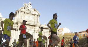 Corredores por la ciudad de Madrid