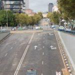 Finaliza el desmontaje del puente de Joaquín Costa