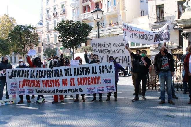 protestas rastro madrid