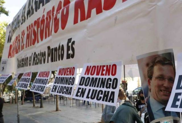 rastro pancartas manifestaciones