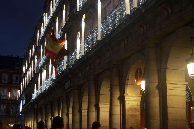 luces navidad 2019 fachada plaza mayor