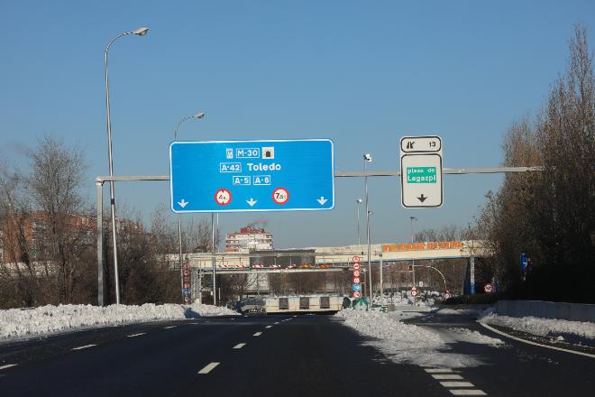 carreteras madrid nieve
