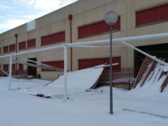 nieve daños CEIP Julián Marías