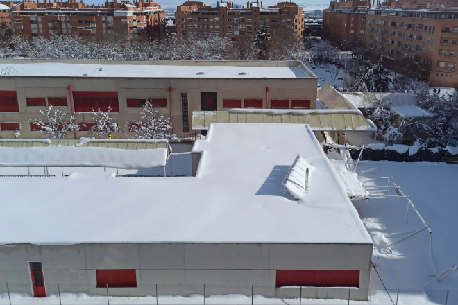 ceip Julián marías daños nieve