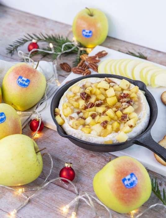 marlene receta queso brie manzanas caramelizadas