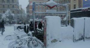 nieve en madrid 2021 metro