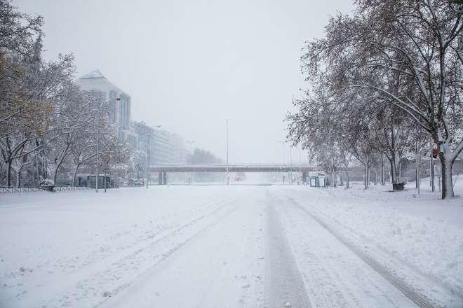 temporal nieve filomena daños madrid castellana